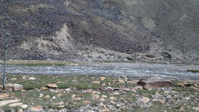 A stream enroute